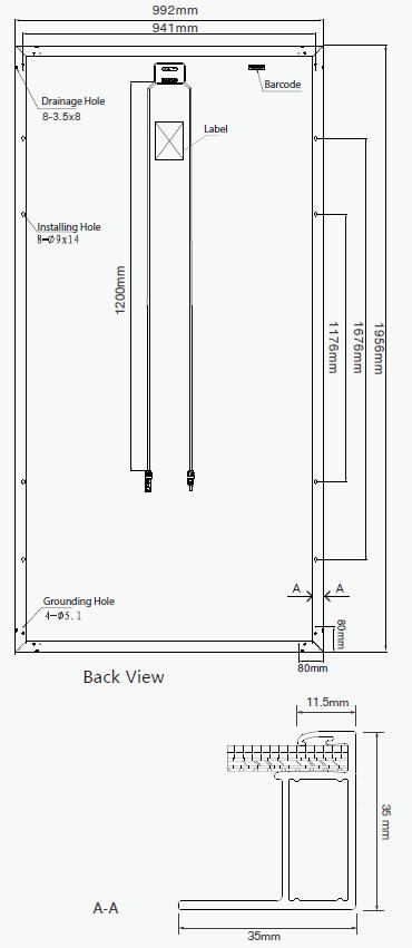 GCL GCL-P6/72-325 325W Poly Solar Panel