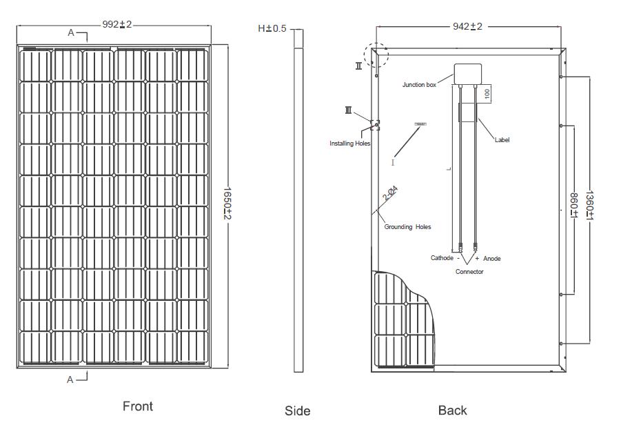 Jinko Solar Eagle JKM295M-60 295w Mono Blk Solar Panel
